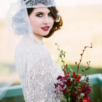 Gatsby Glam Bride In Her Vintage Dress