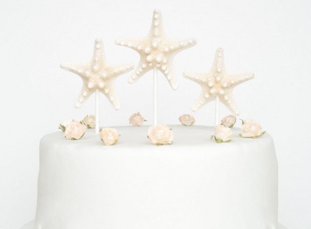 Starfish Beach Wedding Cake Topper Kohabit