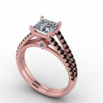 Rose Gold Black Diamond