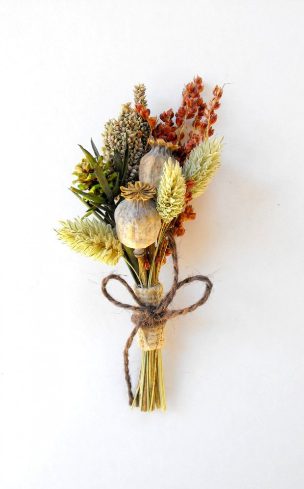 groomsmen country boutonniere