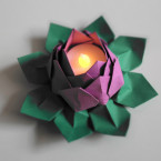 LED Tealight Water Lily Lotus Origami Flower