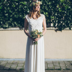 Katia wedding dress in silk and French lace