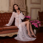 Long Lace Bridal Robe