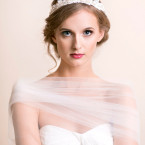 Bridal Crown of Lace and Pearls