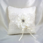 Elegant Layered Lace Ring Pillow