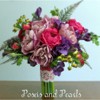 Lavender, Hot Pink, Purple & Green Bouquet